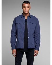 dunkelblaue Shirtjacke von Jack & Jones