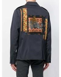 dunkelblaue Shirtjacke von Etro