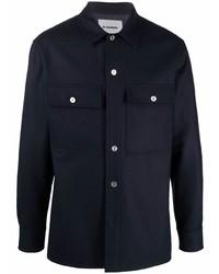 dunkelblaue Shirtjacke von Jil Sander