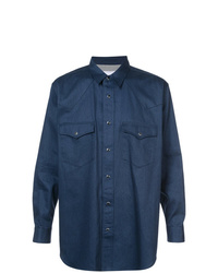 dunkelblaue Shirtjacke von Julien David