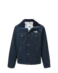 dunkelblaue Shirtjacke von Junya Watanabe MAN