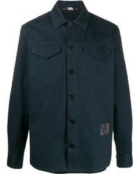 dunkelblaue Shirtjacke von Karl Lagerfeld