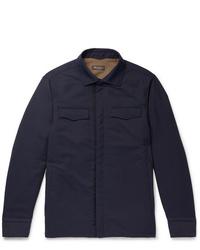 dunkelblaue Shirtjacke von Loro Piana