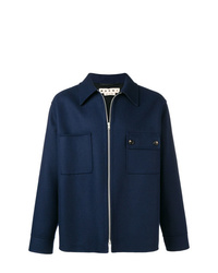 dunkelblaue Shirtjacke von Marni