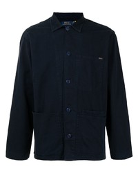 dunkelblaue Shirtjacke von Polo Ralph Lauren
