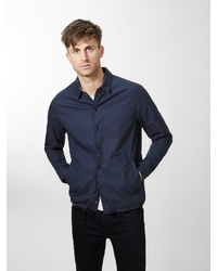dunkelblaue Shirtjacke von Produkt
