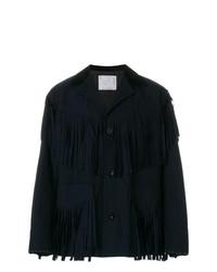 dunkelblaue Shirtjacke von Sacai