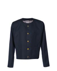 dunkelblaue Shirtjacke von Thom Browne