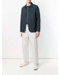 dunkelblaue Shirtjacke von Universal Works