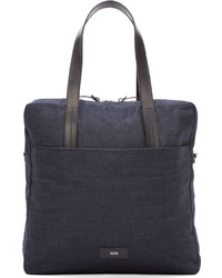 dunkelblaue Shopper Tasche aus Jeans