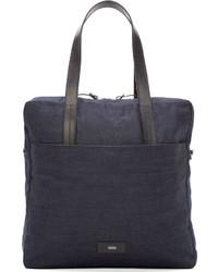dunkelblaue Shopper Tasche aus Jeans von Closed