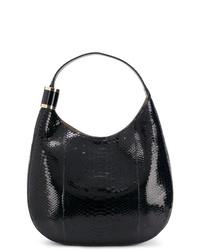 dunkelblaue Shopper Tasche aus Leder mit Schlangenmuster von Jimmy Choo