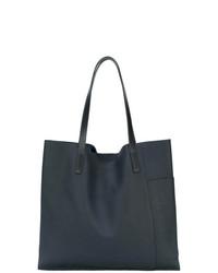 dunkelblaue Shopper Tasche aus Leder von Ally Capellino