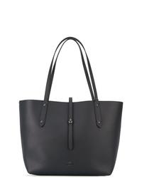 dunkelblaue Shopper Tasche aus Leder von Coach