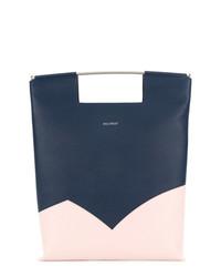 dunkelblaue Shopper Tasche aus Leder von DELPOZO