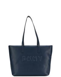 dunkelblaue Shopper Tasche aus Leder von DKNY