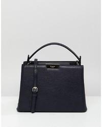 dunkelblaue Shopper Tasche aus Leder von Dune
