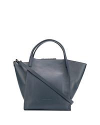 dunkelblaue Shopper Tasche aus Leder von Fabiana Filippi