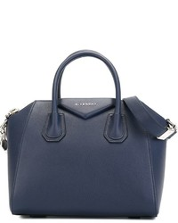 dunkelblaue Shopper Tasche aus Leder von Givenchy