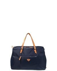 dunkelblaue Shopper Tasche aus Leder von Jump