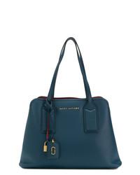 dunkelblaue Shopper Tasche aus Leder von Marc Jacobs