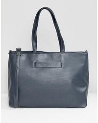 dunkelblaue Shopper Tasche aus Leder von Matt & Nat