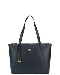 dunkelblaue Shopper Tasche aus Leder von MICHAEL Michael Kors