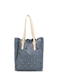 dunkelblaue Shopper Tasche aus Leder von Moschino Cheap & Chic