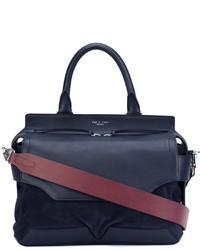 dunkelblaue Shopper Tasche aus Leder von Rag & Bone