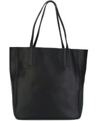 dunkelblaue Shopper Tasche aus Leder von Shinola