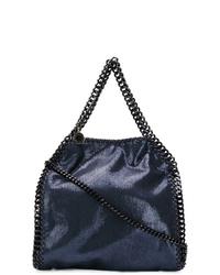 dunkelblaue Shopper Tasche aus Leder von Stella McCartney