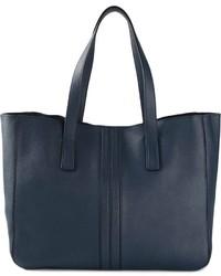 dunkelblaue Shopper Tasche aus Leder von Tod's
