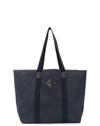dunkelblaue Shopper Tasche aus Segeltuch von A.P.C.