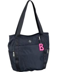 dunkelblaue Shopper Tasche aus Segeltuch von Bogner