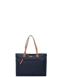 dunkelblaue Shopper Tasche aus Segeltuch von Bric's