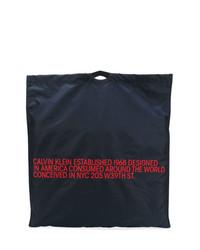 dunkelblaue Shopper Tasche aus Segeltuch von Calvin Klein 205W39nyc