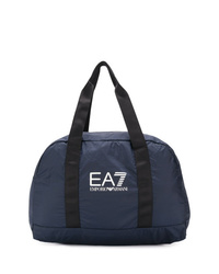 dunkelblaue Shopper Tasche aus Segeltuch von Ea7 Emporio Armani