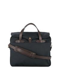 dunkelblaue Shopper Tasche aus Segeltuch von Filson
