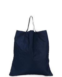 dunkelblaue Shopper Tasche aus Segeltuch von Marni
