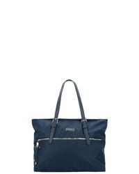 dunkelblaue Shopper Tasche aus Segeltuch von Samsonite
