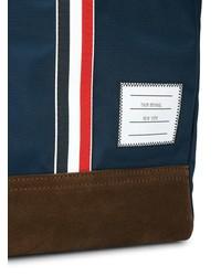 dunkelblaue Shopper Tasche aus Segeltuch von Thom Browne