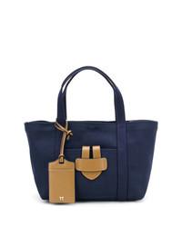 dunkelblaue Shopper Tasche aus Segeltuch von Tila March
