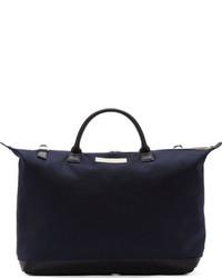 dunkelblaue Shopper Tasche aus Segeltuch von WANT Les Essentiels