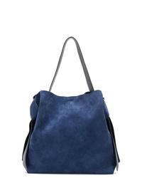 dunkelblaue Shopper Tasche aus Wildleder von Acne Studios