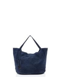 dunkelblaue Shopper Tasche aus Wildleder von BACCINI