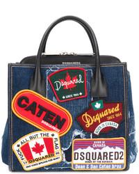 dunkelblaue Shopper Tasche von Dsquared2