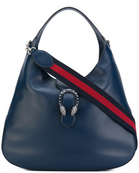 dunkelblaue Shopper Tasche von Gucci