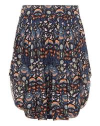 dunkelblaue Shorts mit Blumenmuster von Chloé