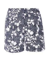 dunkelblaue Shorts mit Blumenmuster von MICHAEL Michael Kors