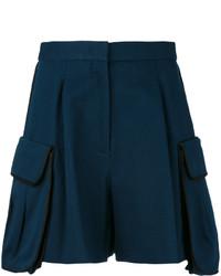 dunkelblaue Shorts von Fendi